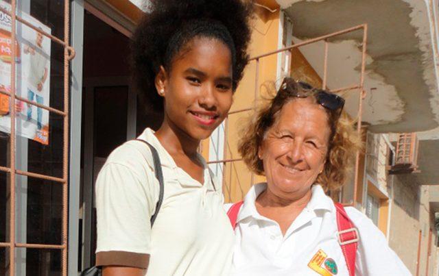 Una delle ragazze del Liceo